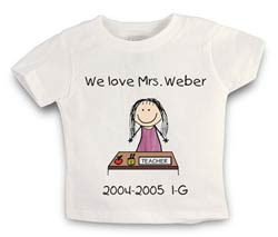 shirt teacher desk