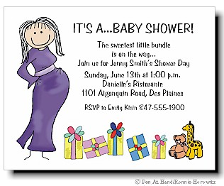 Baby Shower Personalized Party Invitations By The Personal Note Use