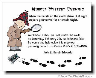 Murder mystery evening personalized party invitations by the party invitation stopboris Images