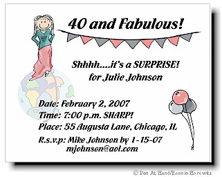 Surprise Birthday Party Personalized Invitations By The