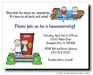 Housewarming Personalized Party Invitations by The Personal Note