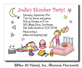 Slumber party personalized party invitations by the personal party invitation stopboris Choice Image