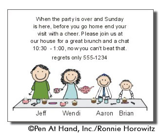Bar Mitzvah Brunch Party Invitations