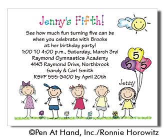 Birthday line personalized party invitations by the personal note party invitation filmwisefo Choice Image