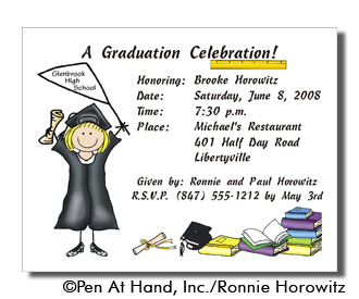 Graduation personalized party invitations by the personal note use party invitation filmwisefo