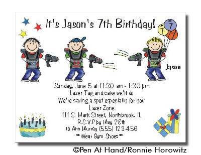 Lazer tag theme personalized party invitations by the personal party invitation stopboris Choice Image