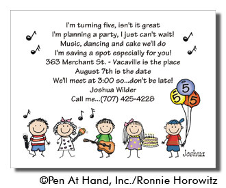 Music dance theme personalized party invitations by the personal party invitation stopboris Choice Image