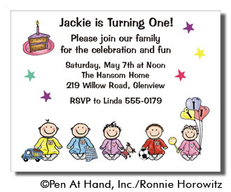 1st birthday personalized party invitations by the personal note party invitation stopboris Choice Image