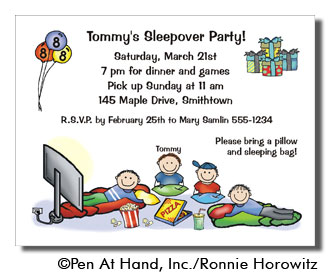 Slumber party personalized party invitations by the personal note party invitation stopboris