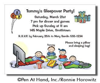 party invitation - Sleepover Birthday Party Invitations