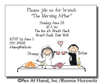 wedding brunch personalized party invitations by the personal note