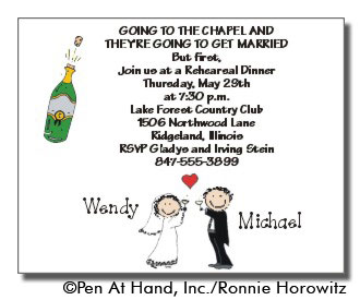 wedding personalized party invitations by the personal note use our