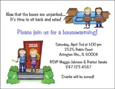 Housewarming Women Personalized Party Invitations by The Personal