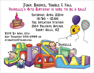 Bounce Theme Personalized Party Invitations by The Personal Note