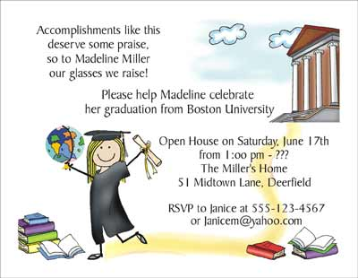 College Graduation Personalized Party Invitations by The Personal