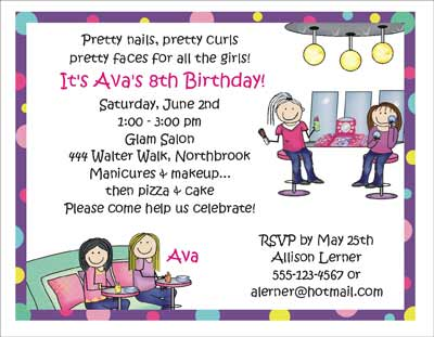 Make up theme personalized party invitations by the personal note party invitation stopboris Choice Image