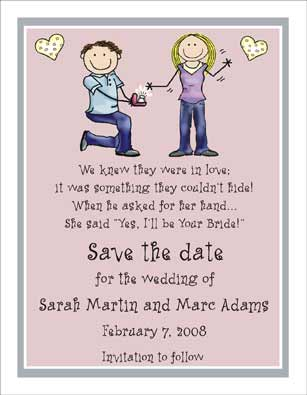Wedding Ring Personalized Party Invitations By The Personal Note