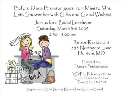 Wedding shower personalized party invitations by the personal note party invitation stopboris Gallery
