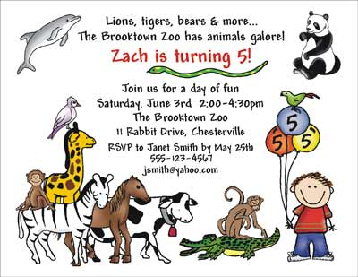 Zoo Themed Birthday Party Invitations Wording Image Inspiration of