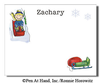 Sledding Theme Personalized Party Invitations By The Personal Note