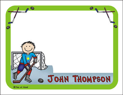 Hockey Theme Personalized Party Invitations by The Personal Note