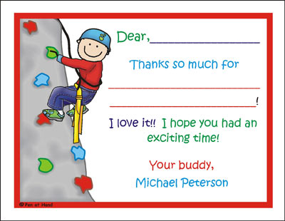 Rock Climb Personalized Party Invitations By The Personal Note - Birthday party invitations rock climbing