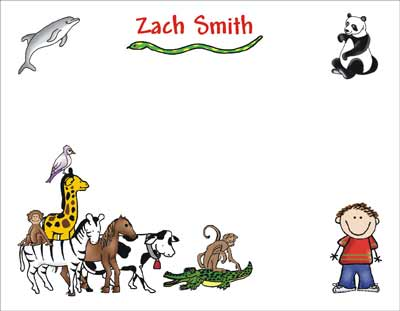 Zoo theme personalized party invitations by the personal note thankyou card stopboris Gallery